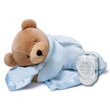 <strong>Prince Lionheart</strong> Slumber Bear with Silkie Blanket in Ice Blue