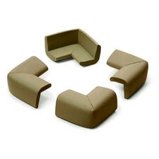 Table Corner 4 Pack in Chocolate