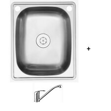 Jarah 45L Centre Inset Laundry Tub and Tap Package