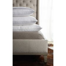 Tri-Compartmented Soft-Medium Sleeping Pillow with Feather Core and Down Surround