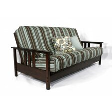 <strong>Strata Furniture</strong> Carriage Durango Loveseat and Ottoman Futon Frame