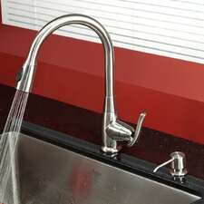One Handle Single Hole Kitchen Faucet with Optional Soap Dispenser