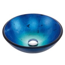 "16.5"" Irruption Clear Glass Vessel Sink"