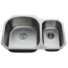"<strong>Kraus</strong> 31.5"" x 20.5 Undermount Double Bowl 60/40 Kitchen Sink"