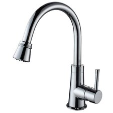 <strong>Kraus</strong> One Handle Single Hole High Neck Kitchen Faucet with Water and Temperature Control