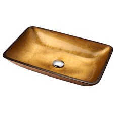 Golden Pearl Rectangular Glass Sink