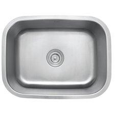"""23"""" x 17.75"""" 4 Piece Single Bowl Kitchen Sink Set"""