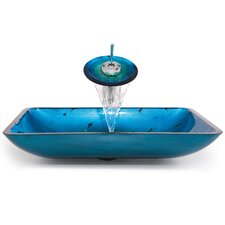 Galaxy Fire Rectangular Vessel Sink