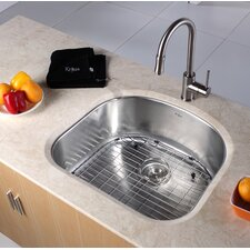 "<strong>Kraus</strong> 23.25"" x 20.88"" Undermount Single Bowl Kitchen Sink"