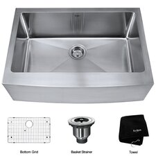 "29.75"" x 20"" Farmhouse Kitchen Sink"