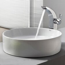 <strong>Kraus</strong> Bathroom Combos Bathroom Sink  with Single Handle Single Hole Waterfall Illusio Faucet