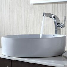 <strong>Kraus</strong> Bathroom Combos Single Hole Waterfall Typhon Faucet and Bathroom Sink