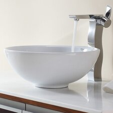 <strong>Kraus</strong> Bathroom Combos Bathroom Sink  with Single Handle Single Hole Waterfall Faucet