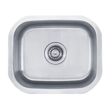 "18"" x 15"" Undermount Single Bowl Kitchen Sink"