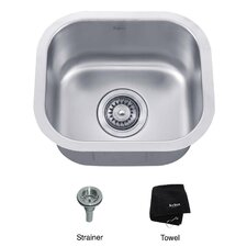 "14.5"" x 13"" Undermount Single Bowl Kitchen Sink"