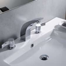 Bathroom Combos Widespread Waterfall Illusio Faucet with Double Handles