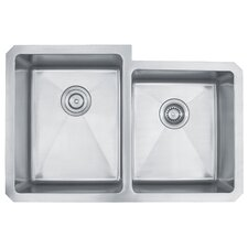 "31.25"" x 20.5""  Undermount 50/50 Double Bowl Kitchen Sink"