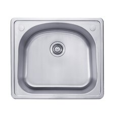 "25"" x 22"" Topmount Single Bowl Kitchen Sink"