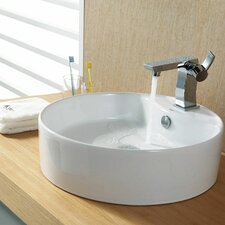 <strong>Kraus</strong> Bathroom Combos Bathroom Sink with Single Handle Single Hole Sonus Faucet