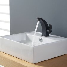 Bathroom Combos Bathroom Sink with Single Handle Single Hole Illusio Faucet