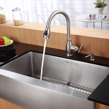 "<strong>Kraus</strong> 36"" x 20.75"" x 10"" 6 Piece Farmhouse Kitchen Sink Set"
