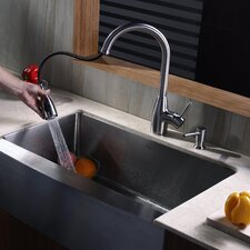 "32.9"" x 20.75"" x 10"" Farmhouse Kitchen Sink"
