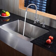"<strong>Kraus</strong> 29.75"" x 20.75"" Farmhouse Kitchen Sink"