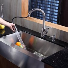 "<strong>Kraus</strong> 35.9"" x 20.75"" x 10"" Farmhouse Kitchen Sink"