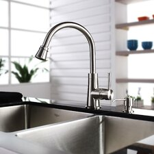 "35.875"" x 20.75"" Farmhouse Double Bowl Kitchen Sink with Faucet and Soap Dispenser"