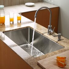 "<strong>Kraus</strong> 30"" x 18"" Undermount Kitchen Sink with Faucet and Soap Dispenser"