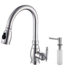 One Handle Centerset Kitchen Faucet with Soap Dispenser