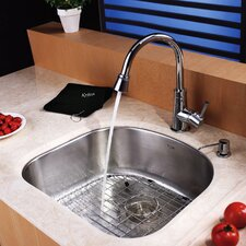 "23.25"" x 20.875"" Undermount Single Bowl Kitchen Sink"