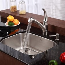 "23"" x 17.75"" 6 Piece Undermount Single Bowl Kitchen Sink Set"
