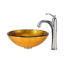 Orion Vessel Sink with Riviera Faucet