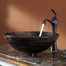 <strong>Kraus</strong> Copper Illusion Glass Vessel Sink and Ventus Faucet