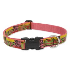 "Flower Patch 1"" Adjustable Large Dog Collar"