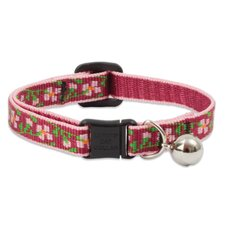 "Cherry Blossom 1/2"" Adjustable Cat Safety Collar"
