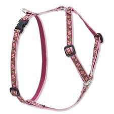 "Cherry Blossom 1/2"" Adjustable Small Dog Roman Harness"