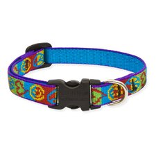 "Peace Pup 1/2"" Adjustable Small Dog Collar"