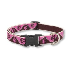 "Tickled Pink 3/4"" Adjustable Medium Dog Collar"