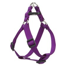 "Solid Color 3/4"" Adjustable Medium Dog Step-In Harness"