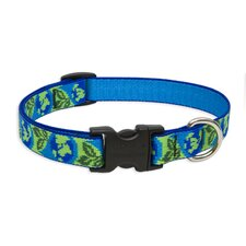 "Earth Day 3/4"" Adjustable Medium Dog Collar"