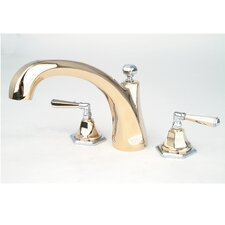 Fino Double Handle Deck Mount Roman Tub Faucet Trim Lever Handle