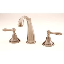 Mediterranean Widespread Bathroom Faucet with Double Lever Handles