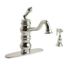 Giardino One Handle Centerset Kitchen Faucet with Side Spray