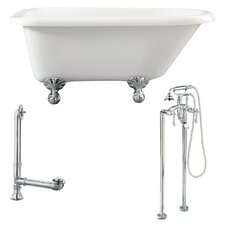 "Augusta 54"" x 30"" Roll Top Bathtub"