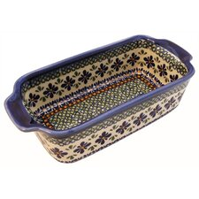 "<strong>Euroquest Imports Polish Pottery</strong> 10.5"" Loaf Pan"