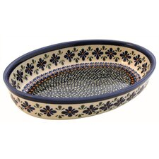 "11"" Oval Baking Pan - Pattern DU60"