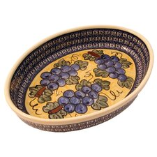 "12"" Oval Baking Pan - Pattern DU8"