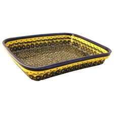 "<strong>Euroquest Imports Polish Pottery</strong> 10""  Rectangular Baking Pan"